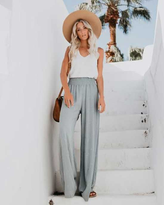 Outfits with Flowy Pants-26