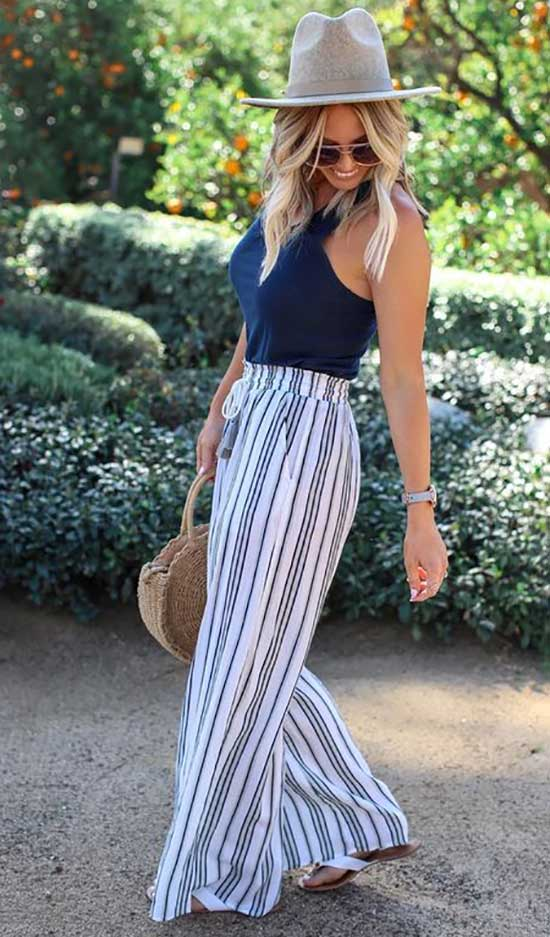 Outfits with Flowy Pants-30