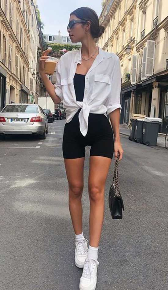 Casual Summer Biker Shorts Outfits-6