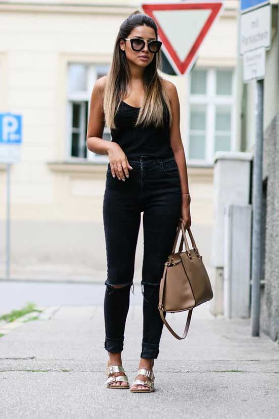 Casual Summer All Black Outfits-7