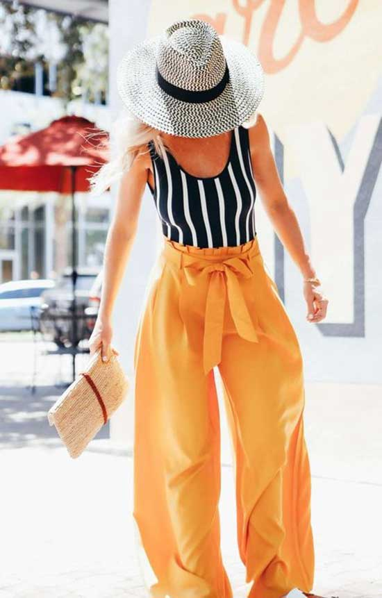 Spring Outfits with Flowy Pants-8