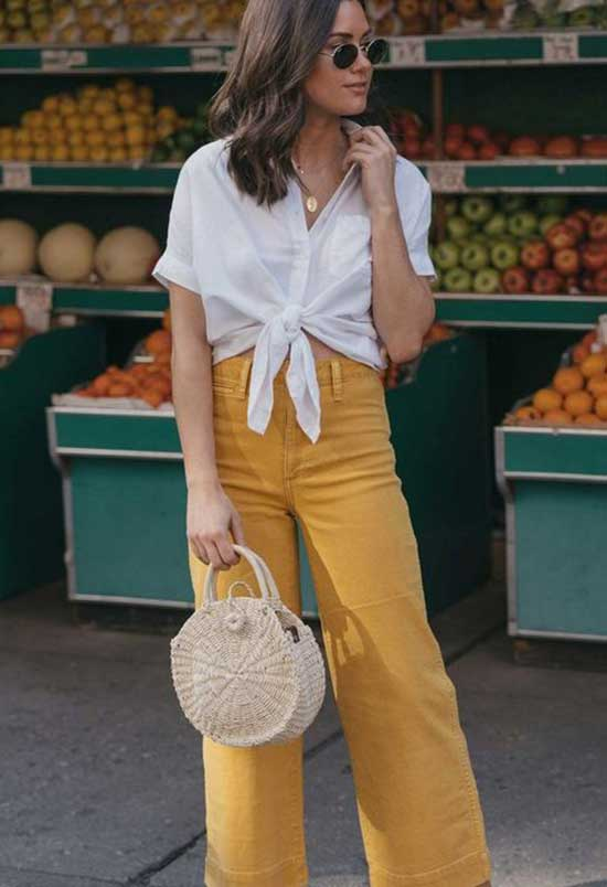Outfits with Flowy Crop Pants-9