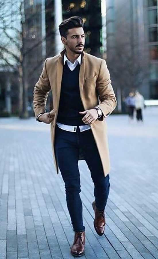 Fall Overcoat Outfit Ideas for Men-15