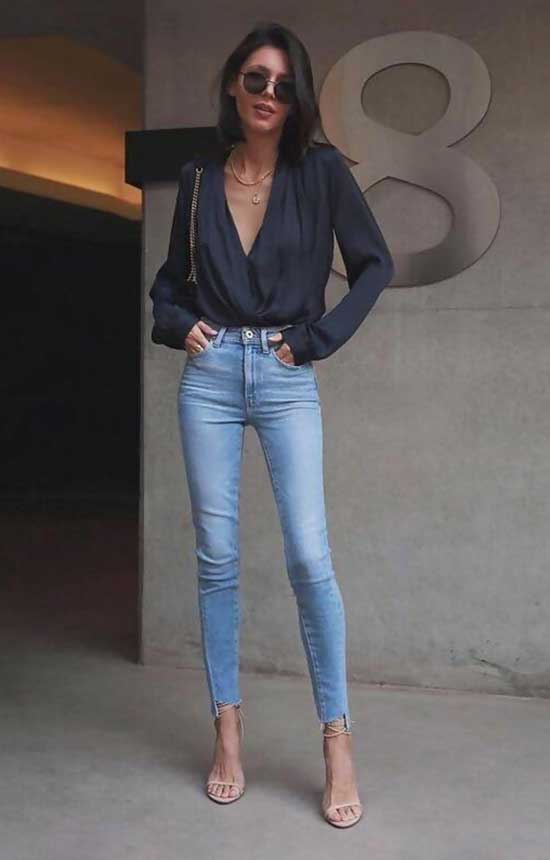 Easy High Waist Jeans Outfit Ideas-16