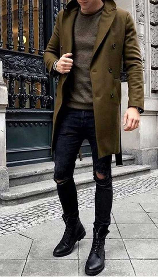 Fall Boots Outfit Ideas for Men-18