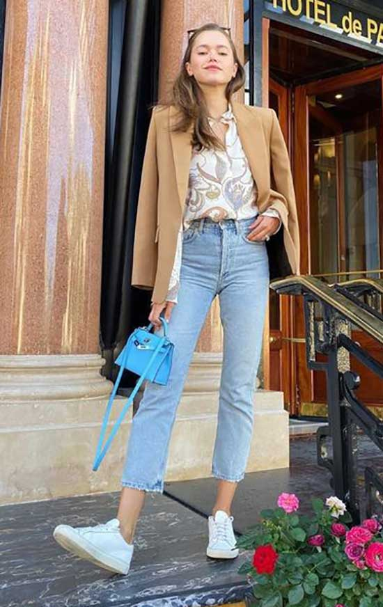 High Waist Jeans Outfit Ideas-21