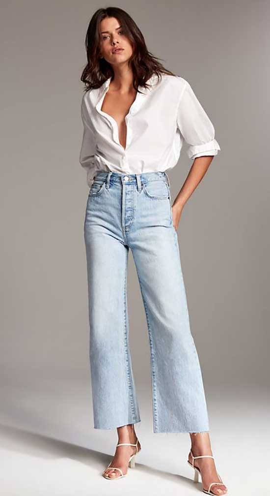 High Waist Jeans Outfit Ideas-23