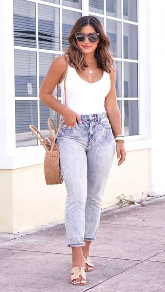 High Waist Jeans Outfit Ideas-27