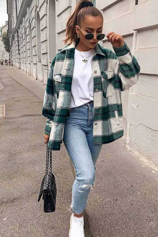Fall Flannel Shirt Outfits-6