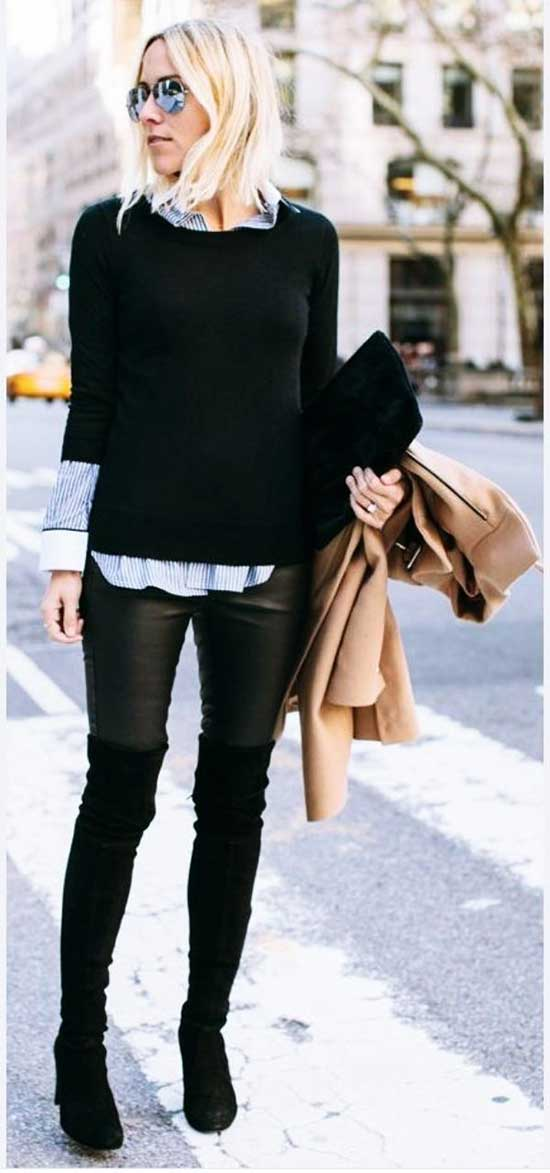 Cute Winter Office Outfits for Women-10