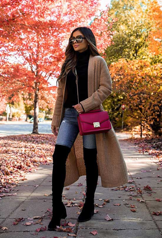 Cute Thanksgiving Coat Outfits-11