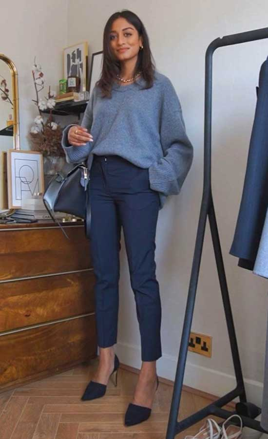 Winter Casual Office Outfits for Women-15