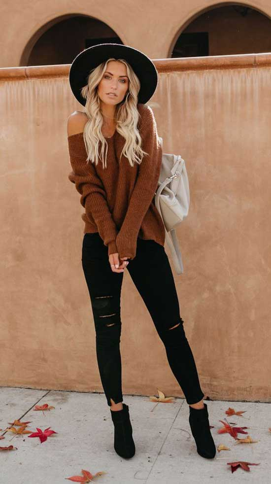 Cute Thanksgiving Outfits with Hat-8